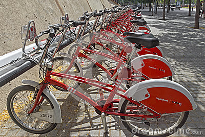 Vodafone Bicing Editorial Photo