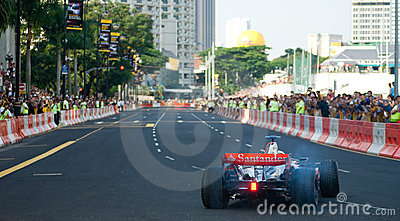 Vodafone McLaren Mercedes F1 Car; Mika Hakkinen Editorial Stock Image
