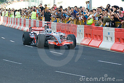 Vodafone McLaren Mercedes F1 Car; Mika Hakkinen Editorial Photography