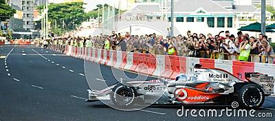 Vodafone McLaren Mercedes F1 Car; Mika Hakkinen Editorial Stock Image