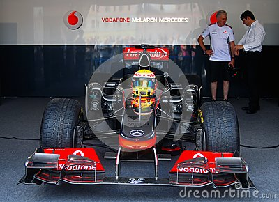 Vodafone McLaren Mercedes sport car Editorial Photography