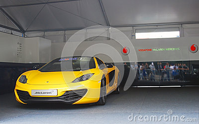 Vodafone McLaren Mercedes sport car Editorial Photo