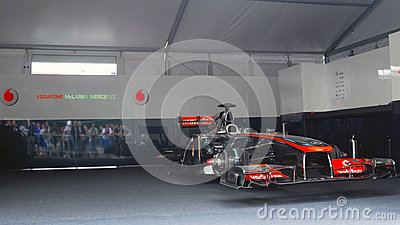 Vodafone McLaren Mercedes sport car Editorial Stock Photo