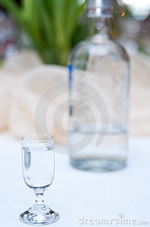 Vodka in glass
