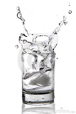 Vodka with an ice