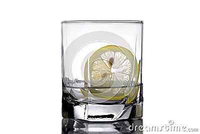Vodka with a lemon