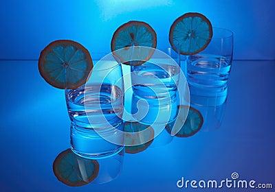Vodka with lemon