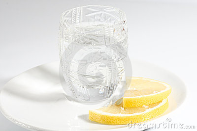 Vodka and lemon