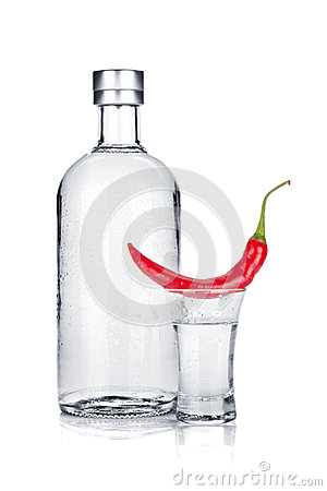 Vodka and red chili pepper
