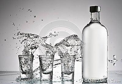 Vodka splash Editorial Image