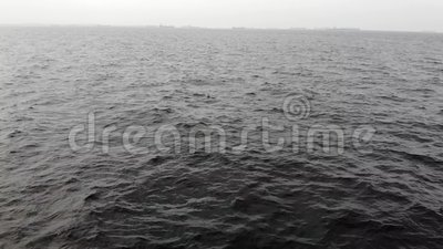 Vogelperspektive des Brummens geht auf Meer/Film- Film-Intro stock video