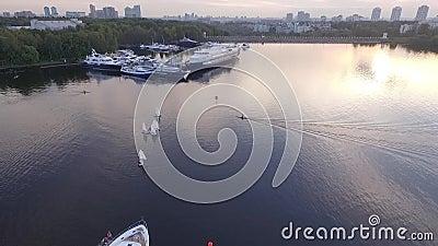Vogelperspektive vom Kreml stock video footage