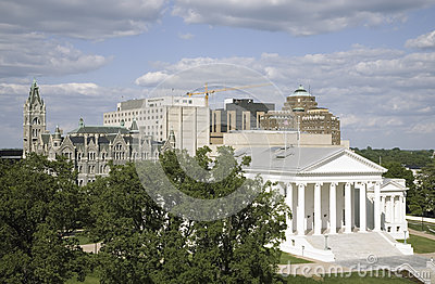 Vogelperspektive 2007 wieder hergestellten Virginia State Capitols Redaktionelles Bild