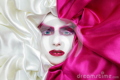 Vogue make up in white and pink
