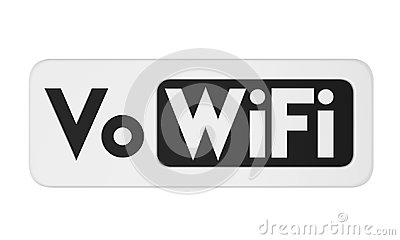 Voice over WiFi Sign Isolated Stock Photo