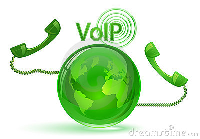 VoIP - Globe and phone receivers