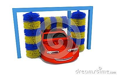 Voiture l 39 int rieur d 39 une station de lavage illustration for A l interieur d une voiture