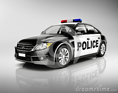 voiture de police 3d avec la sir ne photo stock image 41108381. Black Bedroom Furniture Sets. Home Design Ideas