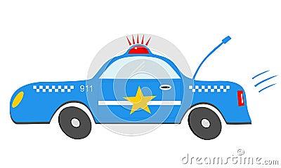 Voiture de police de bande dessin e image stock image 34344321 - Voiture police dessin anime ...