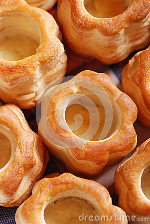 Vol au vent on the table