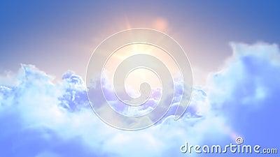 Vol lent au-dessus des nuages