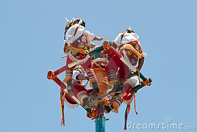 Voladores Editorial Stock Photo