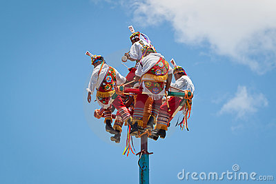 Voladores at  Editorial Stock Image