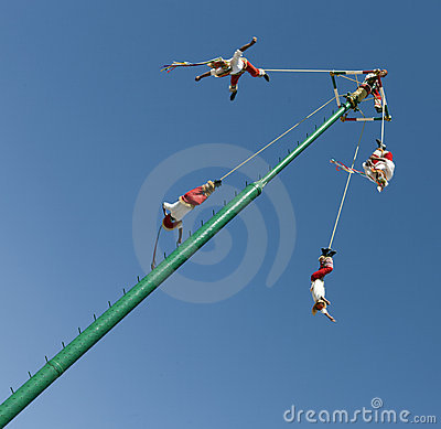 Voladores de Veracruz Editorial Stock Photo