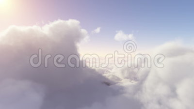 Volando attraverso le nubi eden video d archivio