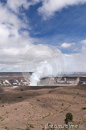 Volcán de Kilaeua, isla grande, Hawaii