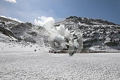 Volcanic activity in Hokkaido, Japan