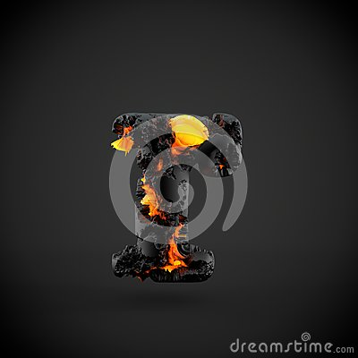 Free Volcanic Alphabet Letter R Lowercase Isolated On Black Background. Royalty Free Stock Photography - 92294227