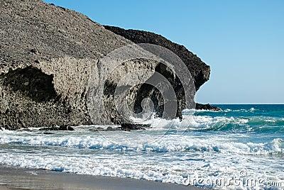 Volcanic coast
