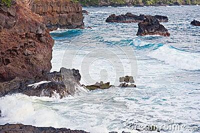 Volcanic Coast Maui Island of Hawaii