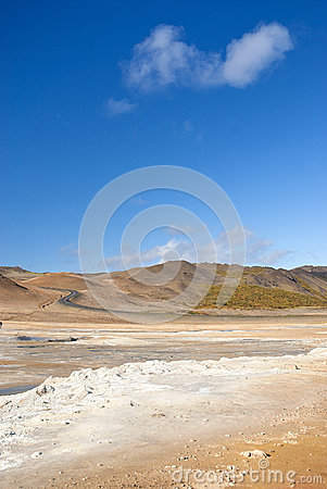 Free Volcanic Desert Landscape In Iceland Stock Image - 33505291