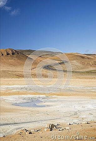 Free Volcanic Desert Landscape In Iceland Stock Photography - 33505462