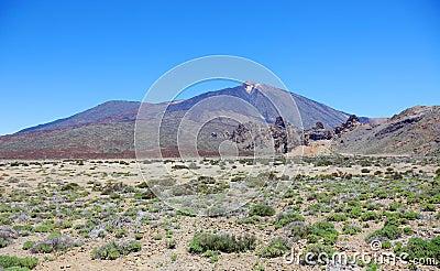 Volcanic desert near Teide.