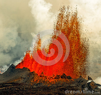Free Volcanic Eruption In Holuhraun Iceland (2014) Royalty Free Stock Images - 46237879