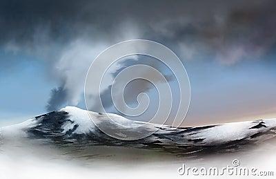 Volcanic Glacier
