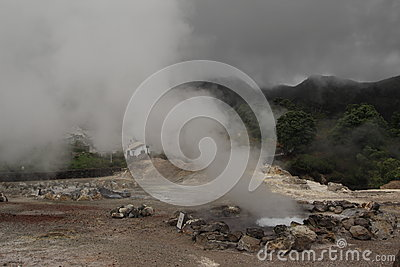 Volcanic hot spring on the Azores