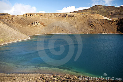 Volcanic lake in iceland