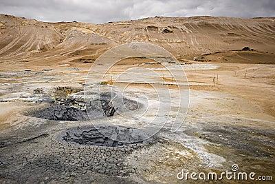 Volcanic landscape in Hverarond, Iceland
