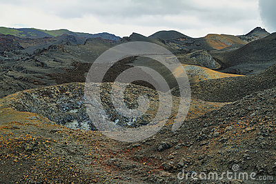 Volcanic landscape, Sierra Negra, Galapagos.