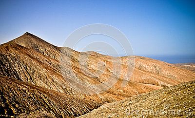 Volcanic panorama of Fuerteventura. Canarias