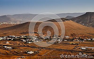 Volcanic panorama of Fuerteventura island
