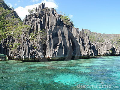 Volcanic rocks in Coron Island