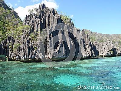 Volcanic rocks in Coron Island