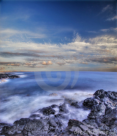Free Volcanic Stones Of Hawaii In The Sea Stock Photos - 4139263