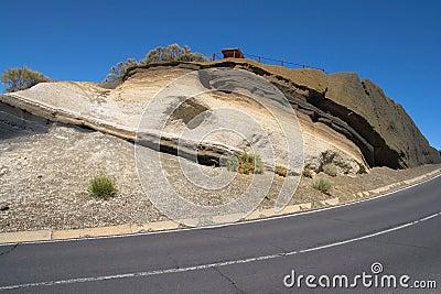 Volcanic strata