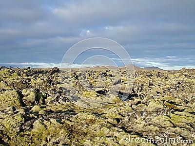 Volcanic terrain in Iceland